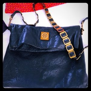 Authentic Tory Burch crossbody bag navy blue
